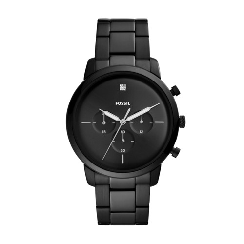 Fossil Neutra Chronograph Black Stainless Steel Watch  jewelry