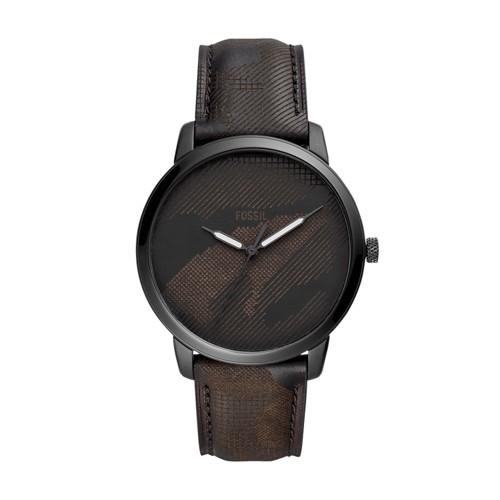 Neutra Three-Hand Black Camo Leather Watch FS5584