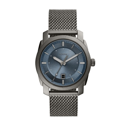 Machine Three-Hand Date Smoke Stainless Steel Watch FS5587