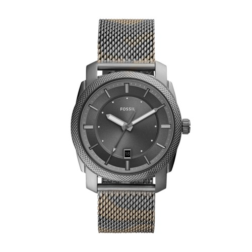 Machine Three-Hand Date Smoke Camo Stainless Steel Watch FS5588