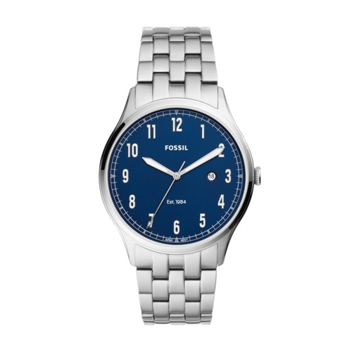 fossil Forrester Three-Hand Date Stainless Steel Watch FS5593