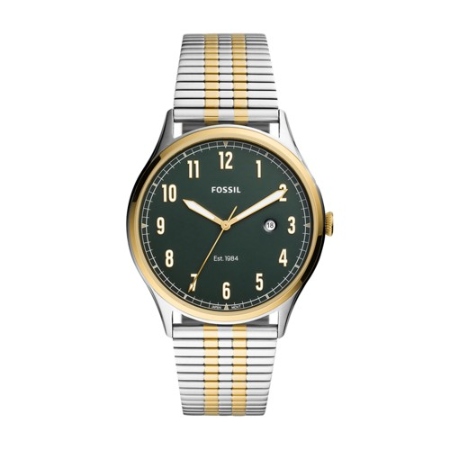 Forrester Three-Hand Date Two-Tone Stainless Steel Watch FS5596