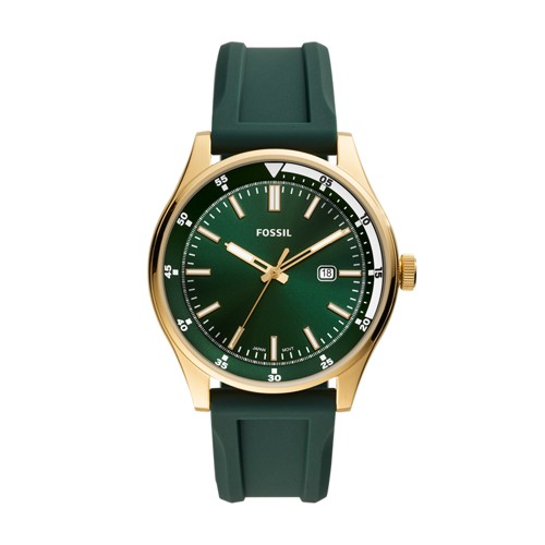 Belmar Three-Hand Date Dark Green Silicone Watch FS5597