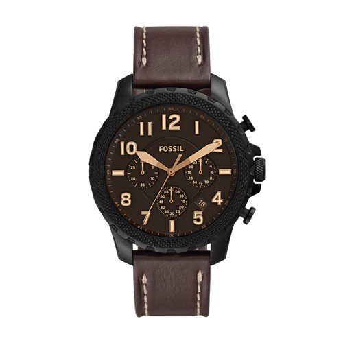 Fossil Bowman Chronograph Brown Leather Watch  jewelry