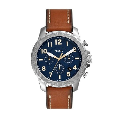 fossil Bowman Chronograph Luggage Leather Watch FS5602