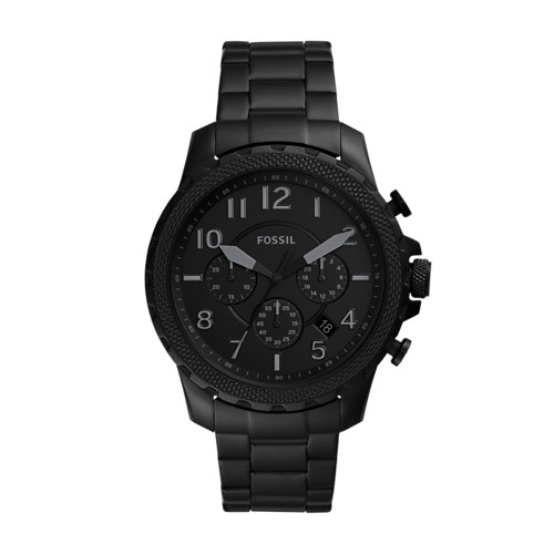 Fossil Bowman Chronograph Black Stainless Steel Watch  jewelry