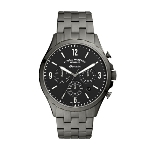 Forrester Chronograph Smoke Stainless Steel Watch FS5606