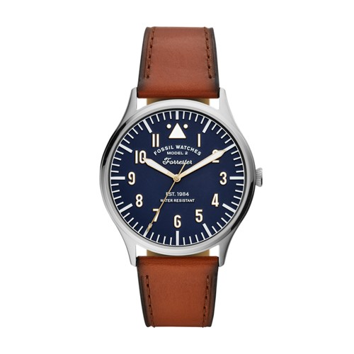 Forrester Three-Hand Luggage Leather Watch FS5611