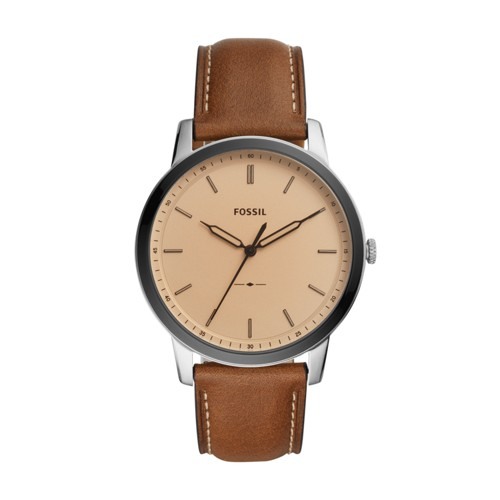 The Minimalist Three-Hand Brown Leather Watch FS5619