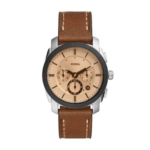 Machine Chronograph Brown Leather Watch FS5620