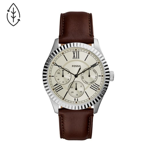 Chapman Multifunction Brown Leather Watch FS5633