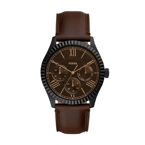 Fossil Chapman Multifunction Brown Leather Watch  jewelry