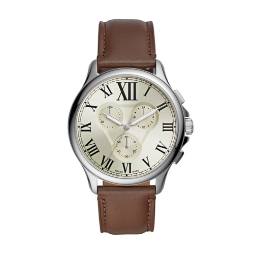 Fossil Monty Chronograph Brown Leather Watch  jewelry