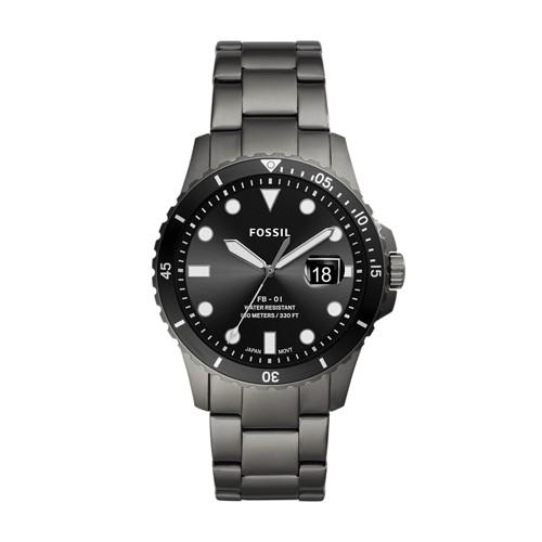 FB-01 Three-Hand Date Smoke Stainless Steel Watch FS5655
