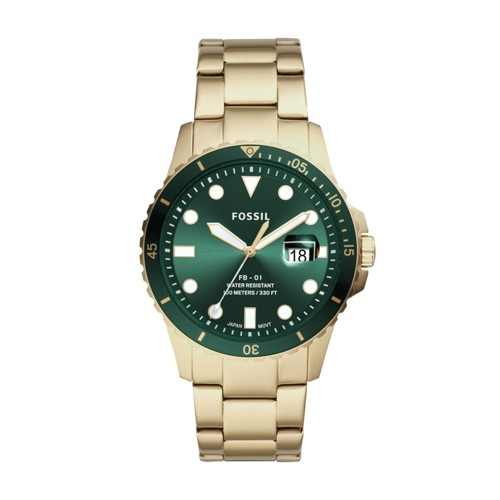 FB-01 Three-Hand Date Gold-Tone Stainless Steel Watch FS5658
