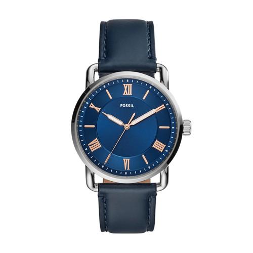 Copeland 42mm Three-Hand Navy Leather Watch FS5662