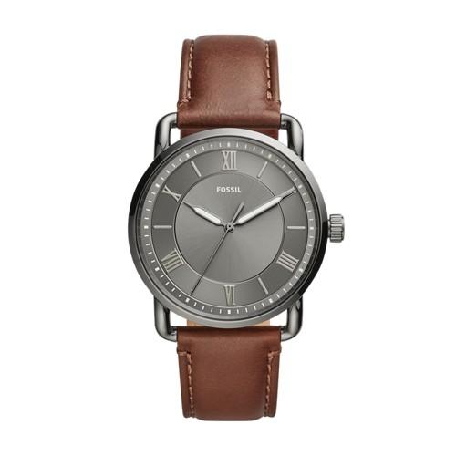 Copeland 42mm Three-Hand Brown Leather Watch FS5664
