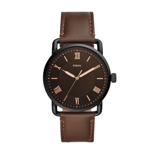Copeland 42mm Three-Hand Brown Leather Watch FS5666