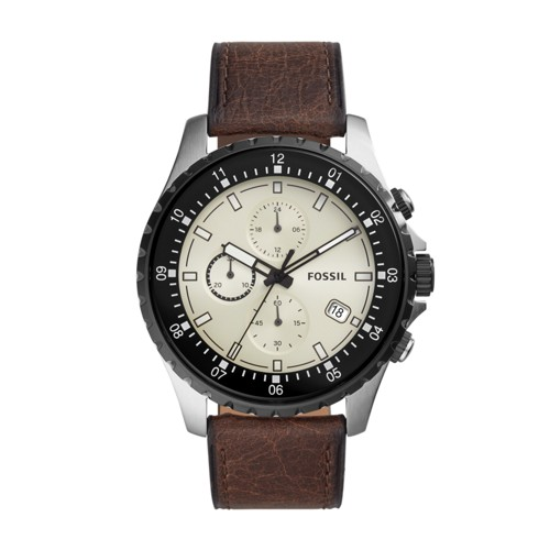 Dillinger Chronograph Brown Leather Watch FS5674