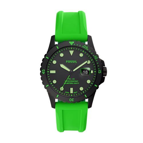 FB-01 Three-Hand Date Neon Green Silicone Watch FS5683