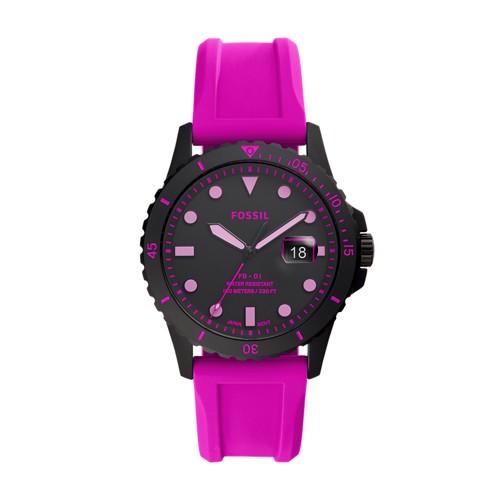 FB-01 Three-Hand Date Pink Silicone Watch FS5685