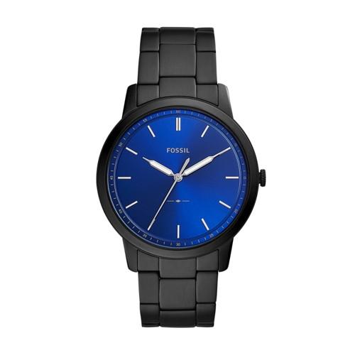 The Minimalist Three-Hand Black Stainless Steel Watch FS5693