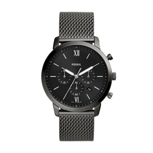 Neutra Chronograph Smoke Stainless Steel Mesh Watch FS5699