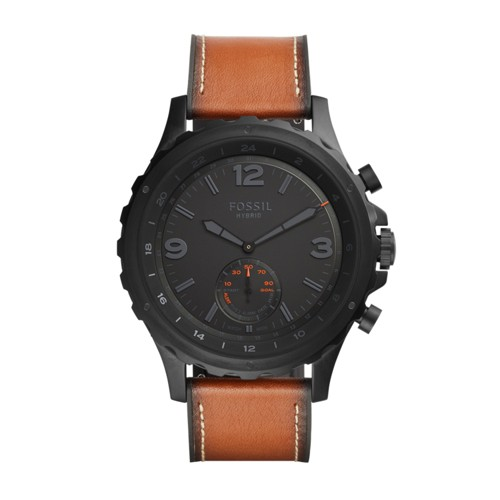 Fossil Hybrid Smartwatch - Q Nate Dark Brown Leather FTW1114