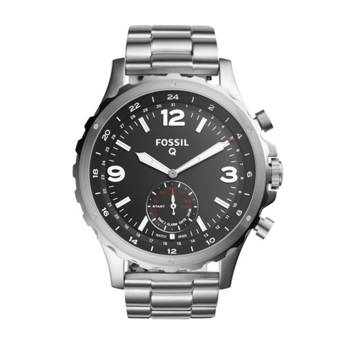 Fossil Hybrid Smartwatch - Q Nate Stainless Steel Ftw1123