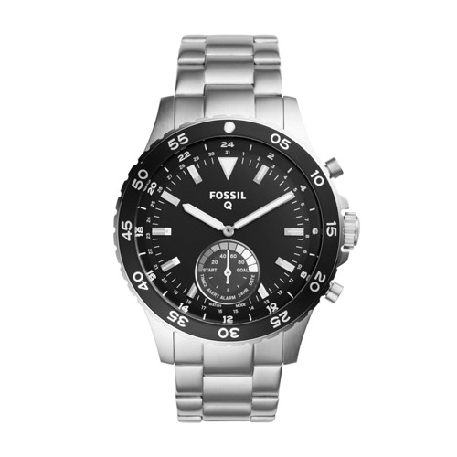 Fossil Hybrid Smartwatch - Q Crewmaster Stainless Steel FTW1126