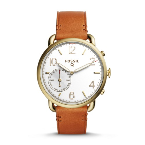 Fossil REFURBISHED Hybrid Smartwatch - Q Tailor Brown Leather FTW1127J