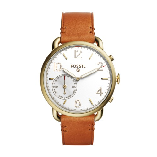 Fossil Hybrid Smartwatch - Q Tailor Brown Leather Ftw1127