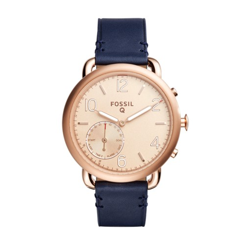 Fossil Hybrid Smartwatch - Q Tailor Dark Navy Leather Ftw1128