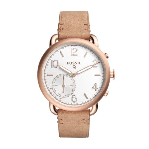 Fossil Hybrid Smartwatch - Q Tailor Light Brown Leather Ftw1129