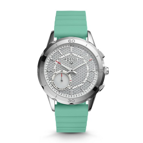 Fossil REFURBISHED Hybrid Smartwatch - Q Modern Pursuit Mint Green Silicone FTW1134J