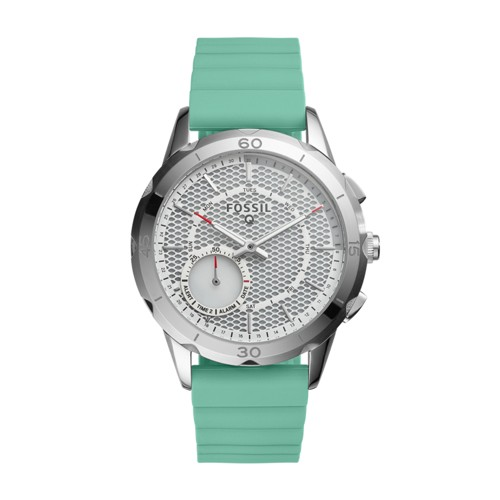 Fossil Hybrid Smartwatch - Q Modern Pursuit Mint Green Silicone Ftw1134