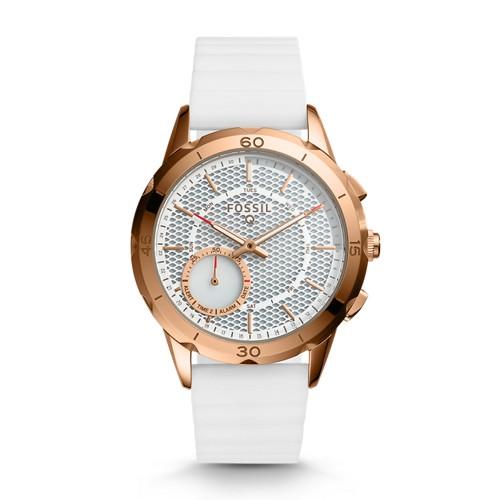 Fossil REFURBISHED Hybrid Smartwatch - Q Modern Pursuit White Silicone FTW1135J