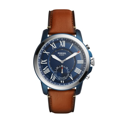Fossil Hybrid Smartwatch - Q Grant Luggage Leather Ftw1147