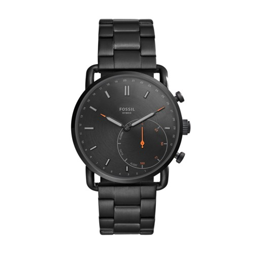 Fossil Hybrid Smartwatch - Commuter Black Stainless Steel FTW1148