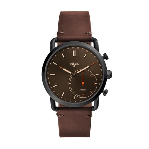Fossil REFURBISHED Hybrid Smartwatch - Q Commuter Dark Brown Leather FTW1149J