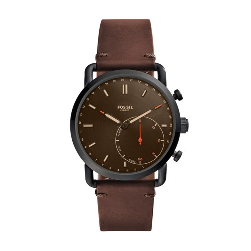 Fossil Hybrid Smartwatch - Q Commuter Dark Brown Leather FTW1149