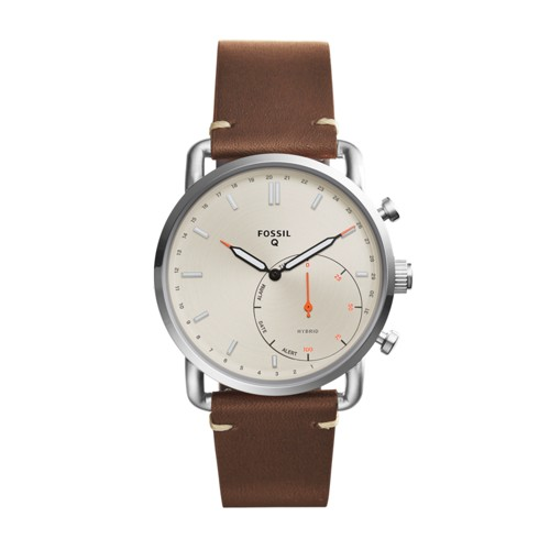 Fossil Hybrid Smartwatch - Q Commuter Dark Brown Leather FTW1150