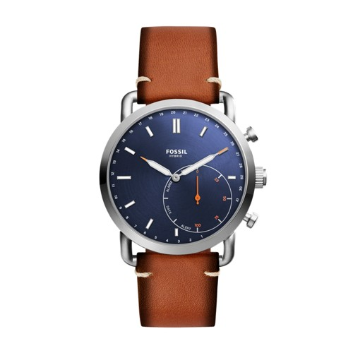 Fossil Hybrid Smartwatch - Commuter Luggage Leather FTW1151