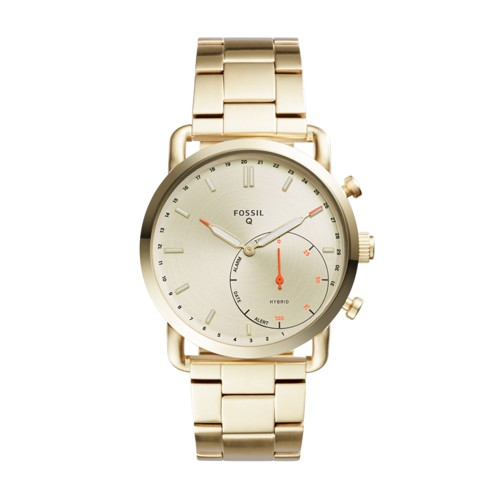 Fossil Hybrid Smartwatch - Q Commuter Gold-Tone Stainless Steel Ftw1152