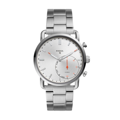 Fossil Hybrid Smartwatch - Q Commuter Stainless Steel Ftw1153