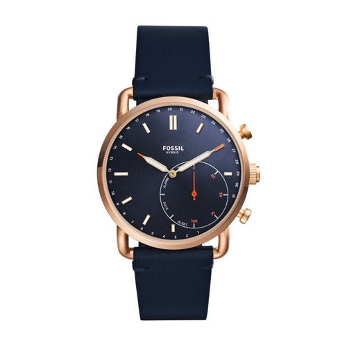 Fossil Hybrid Smartwatch - Commuter Navy Leather FTW1154