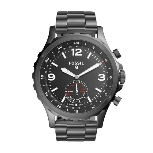 Fossil Hybrid Smartwatch - Q Nate Smoke Stainless Steel Ftw1160