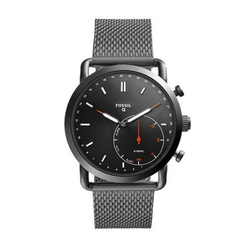 Fossil REFURBISHED Hybrid Smartwatch - Commuter Smoke Stainless Steel FTW1161J