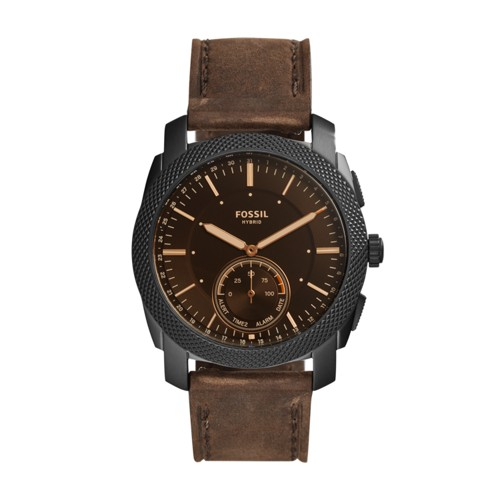 Fossil Hybrid Smartwatch - Machine Dark Brown Leather FTW1163