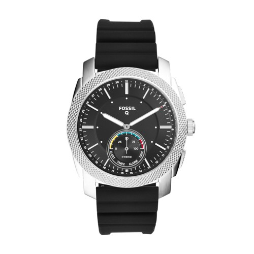 Fossil Hybrid Smartwatch - Machine Black Silicone FTW1164